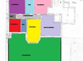 Ampio quadrivani con posto auto, giardino e patio