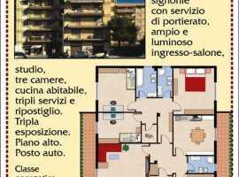 luminoso grande appartamento via turati